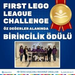 First Lego League Challenge Organizasyonunda Öz Değerler Alanında Birincilik Ödülü Kazandık!
