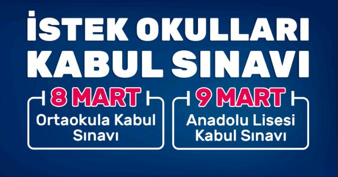 İSTEK OKULU KABUL SINAVI